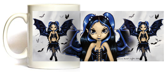 Bat Wings Fairy Mug by Jasmine Becket Griffith