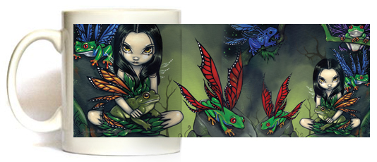 My Fairy Frog Friends Mug by Jasmine Becket Griffith