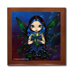 Nepenthe Fairy Ceramic Tile Box