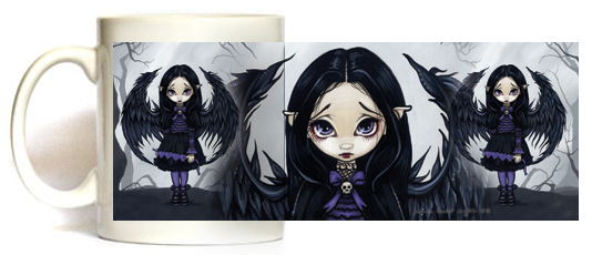 Purple Paper Hearts Mug by Jasmine Becket Griffith