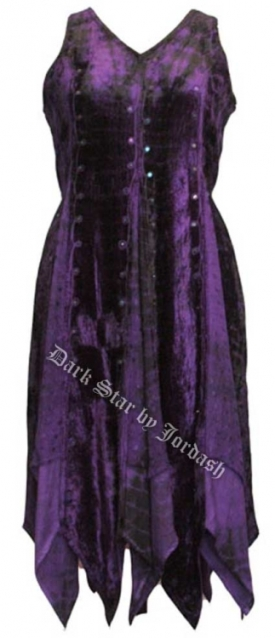 Dark Star Purple and Black Renaissance Dress