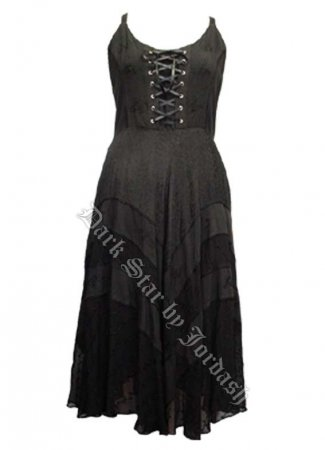 Dark Star Plus Size Black Gothic Corset Long Gown