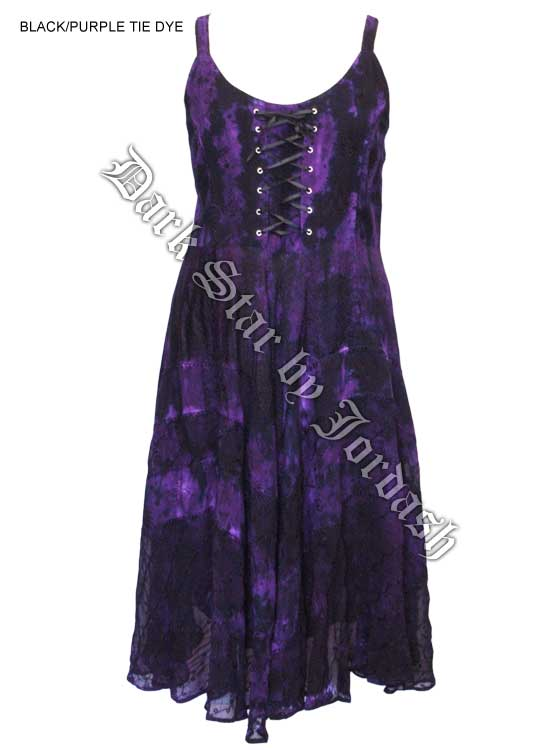 Dark Star Black and Purple Gothic Corset Long Gown