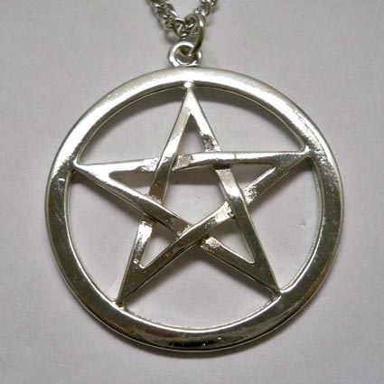 Polished Pentacle Necklace