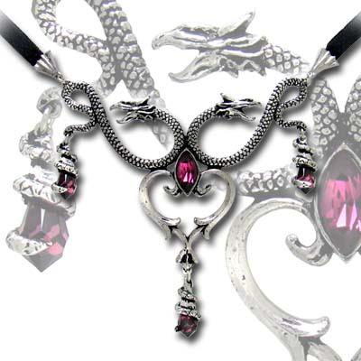 Alchemy Gothic The Laidly Wyrm Pendant Necklace