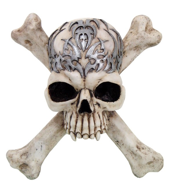 Tribal Skull and Cross Bones Wall Plaque