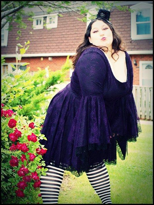 07e5c255f42 Gothic Spider Dress Customer Name  Amy Van Orden Wearing  Dark Star Gothic  Black Red Velvet Lace PVC Mini Dress Size  Free ...