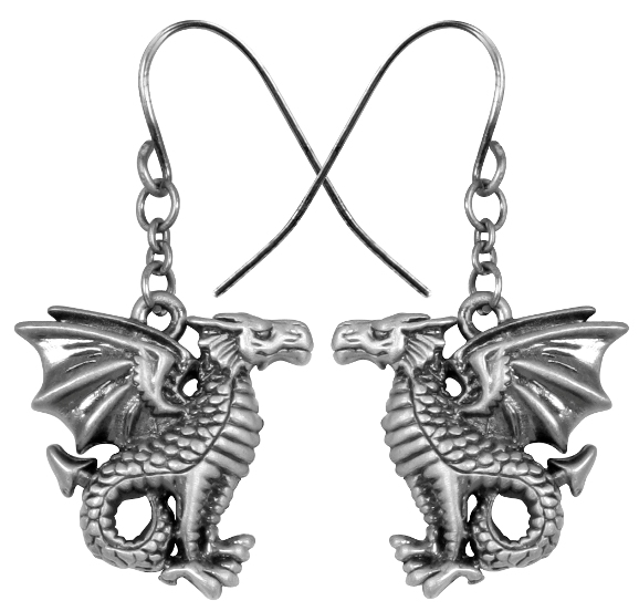 Leviathan Dragon Earrings