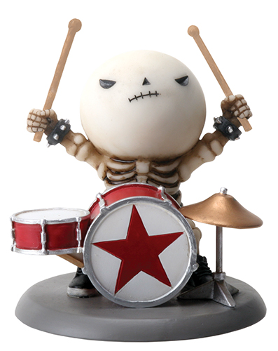 Rockstar Lucky on Drums Skellies Figurine