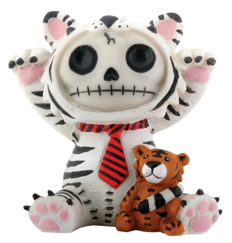 White Tigrrr Furry Bones Skellies Figurine