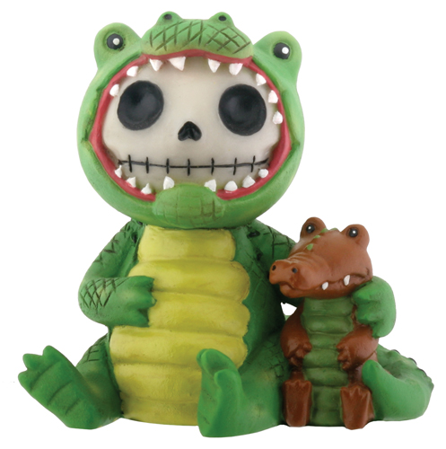 Chompsy Gator Furry Bones Skellies Figurine
