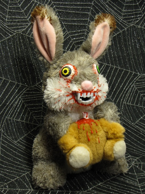 Rabbit Vampire Bunny Eating Spinal Cord Bear Scare Bear