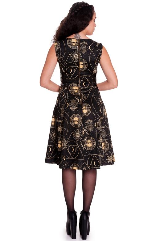 8b859de7ec6 ... Spin Doctor Plus Size Pentagram and Skull Gothic Tabitha Dress ...