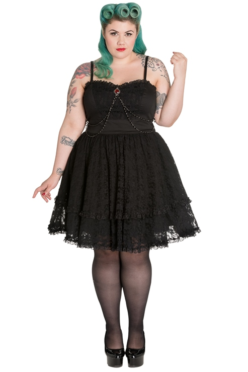 07e1d438333 Spin Doctor Plus Size Black Gothic Lace Vampire Zylphia Mini Dress ...