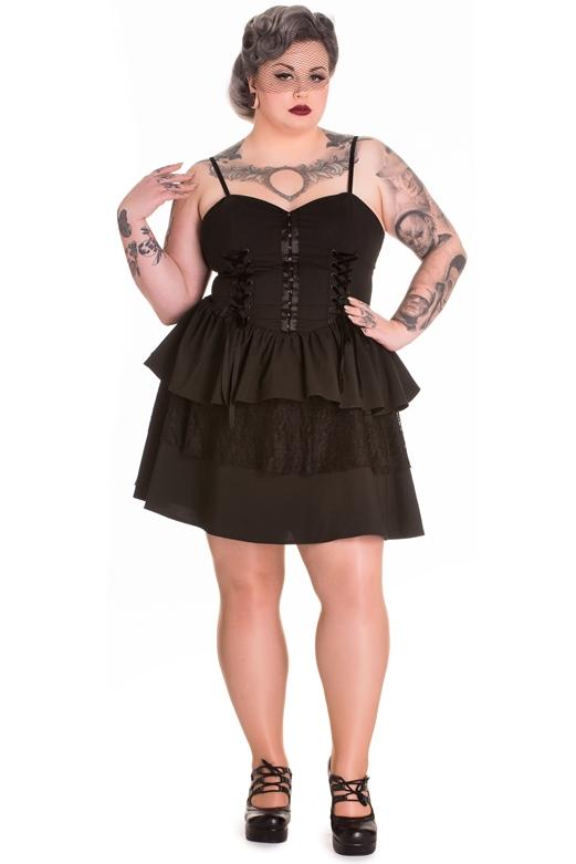 Spin Doctor Plus Size Black Gothic Azrael Corset Dress [SD4498 ...