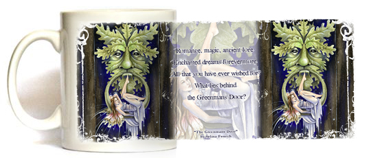 Greenman's Door Fairy Mug by Selina Fenech