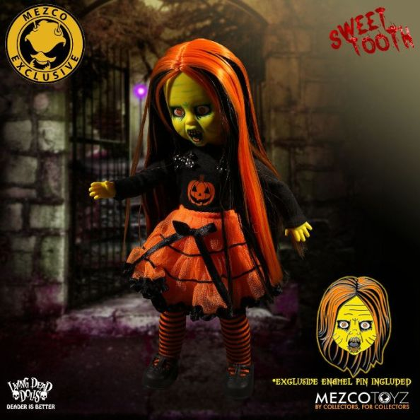 NYCC 2017 Exclusive Mezco Living Dead Dolls Sweet Tooth w Pin