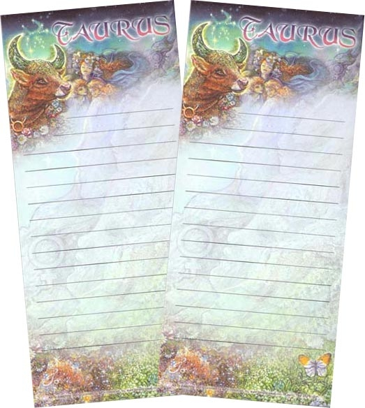 """Taurus"" Magnetic Zodiac List Pad by Josephine Wall"