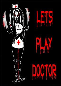 Let's Play Doctor Toxic Toons Spooky Greeting Card
