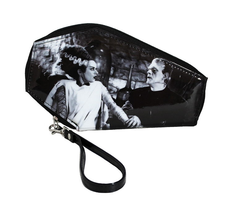 Universal Monsters Frankenstein & Bride We Belong Dead PVC Vinyl Coffin Wallet