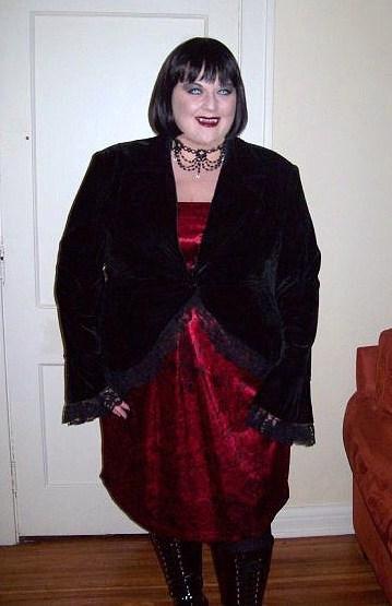 14ff535c33d Gothic Velvet Jacket Customer Name  Rebecca Fay Wearing  Dark Star Black  Gothic Corset Long Gown