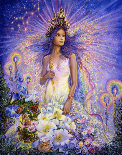 Virgo Zodiac Collector's Card by Josephine Wall