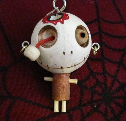 Bloody Hole in the Head w Bulging Eye Woody Keychain