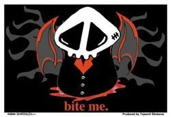 Agorables Bite Me Sticker