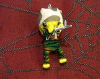 Yellow Army Man with Gun Voodoo Keychain