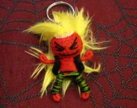 Red w Yellow Hair Rockin Man Voodoo Keychain
