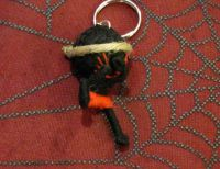 Black and Red Karate Kung Fu Voodoo Keychain