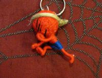 Red and Blue Karate Kung Fu Voodoo Keychain