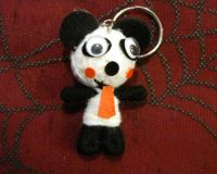 Black and White Panda Voodoo Keychain