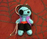 Blue Pirate Voodoo Keychain