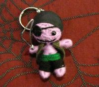 Purple Pirate Voodoo Keychain