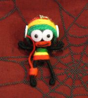 Rasta Man with Headphones Voodoo Keychain