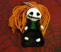 Trenchcoat Skelly Voodoo Keychain