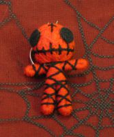 Red and Black Skelly Mummy Voodoo Keychain