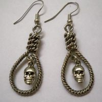 Skull in Noose Earrings