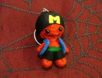 Red and Black Rapper Man Voodoo Keychain