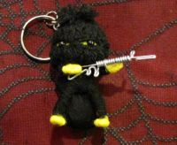 Yellow Bank Robber with Loot Bag Ski Mask Voodoo Keychain