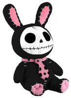 Black Bun Bun Furry Bones Skellies Plush Toy