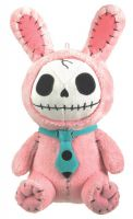 Small Pink Bun Bun Furry Bones Skellies Plush Toy