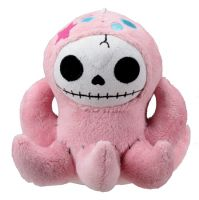 Small Octopee Furry Bones Skellies Plush Toy