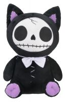 Black Mao Mao Furry Bones Skellies Plush Toy