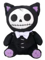 Small Black Mao Mao Furry Bones Skellies Plush Toy