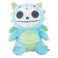 Small Scorchie Dragon Furry Bones Skellies Plush Toy