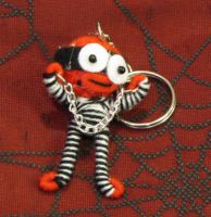 Red Prisoner with Shackles Voodoo Keychain