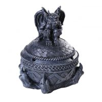 Gargoyle Ashtray Lidded Trinket Box