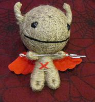 Twine Devil w Pitchfork Large Voodoo Doll